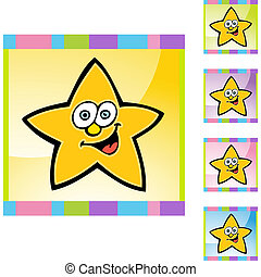 face étoile