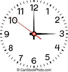 face., άσπρο , απομονωμένος , φόντο , ρολόι