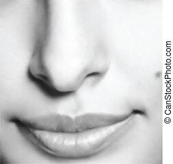 face., ベクトル, 美しさ, イラスト, 女