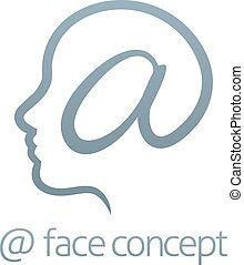Face At Sign Concept