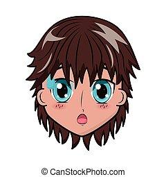 face boy anime expression facial