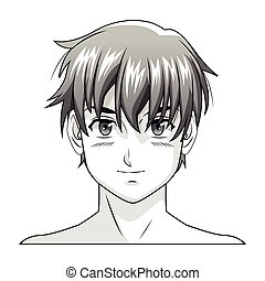 face boy anime manga comic