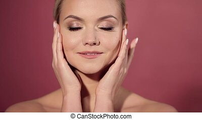 Face care and skin care, health and beauty concept, copy...