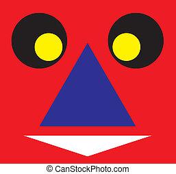 Face cartoon color