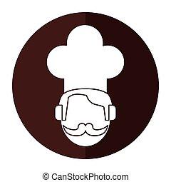 face chef restaurant symbol shadow