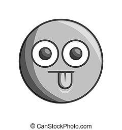face circle emoticon kawaii style