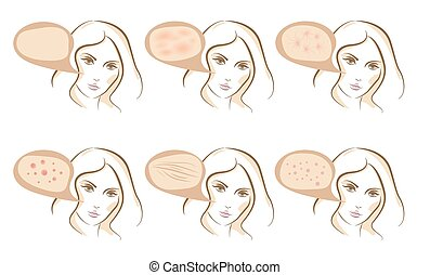 Face concept of anti aging procedures on skin