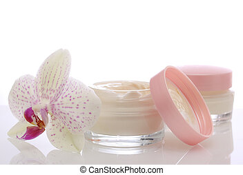 face cream and orchid