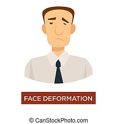 Face deformation stroke symptom disease prevention medicine