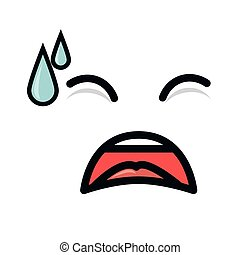 face emoticon kawaii style