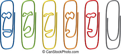 face emotions paperclips