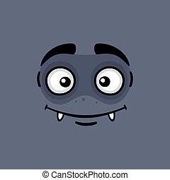 face., expression, dessin animé, monstre