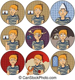 face expressions - a kid