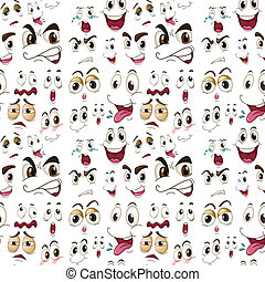 face expressions - illustration of various face expressions...