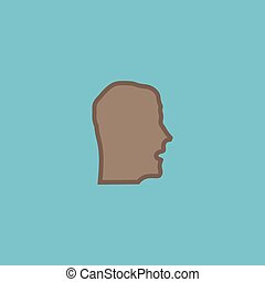 Face flat icon