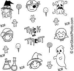 Face Halloween Element doodle
