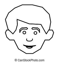 face happy man icon