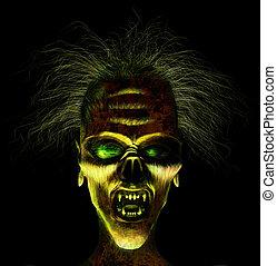 face., hideux, render, 3d