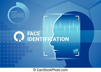 Face Identification System Scanning Modern Access Control...