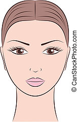 Face - Vector illustration of female face