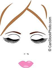 face - vector woman face spa