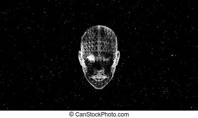 face in space.Abstract background for different events and...