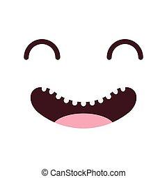 face kawaii style icon