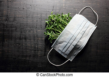 Face mask and Young Plants