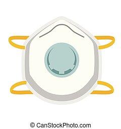 face mask flat illustration on white