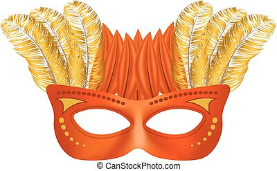 Face mask mockup, realistic style