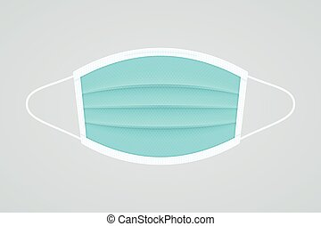 Face mask symbol on white background. Mask realistic vector icon.