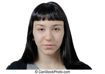 Face of a beautiful natural young woman. - Face of a...
