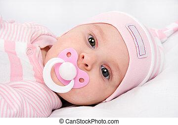 beautiful newborn girl
