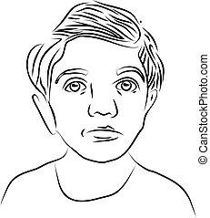 Face of a little girl