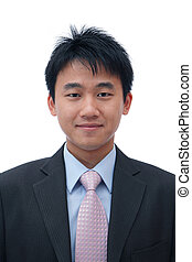 asian business man with friendly smile