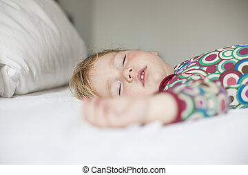 face of baby sleeping