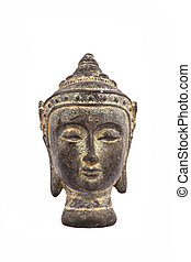 Face of buddha isolated on white background