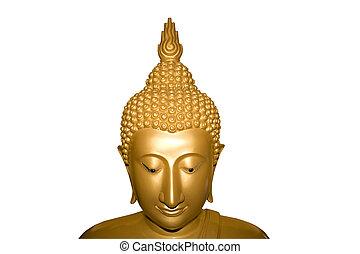 Face of Buddha isolated