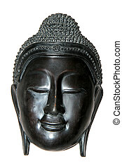 Face of Buddha - The holy face of a smiling Buddha.