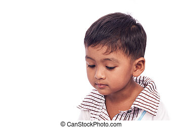face of cute school boy