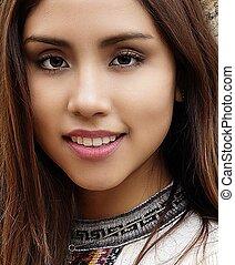 Face Of Hispanic Female