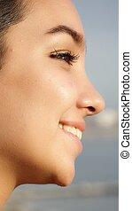 Face Of Hispanic Girl