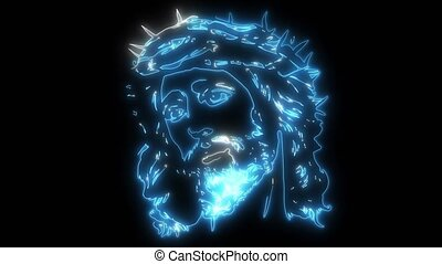 Face of Jesus video animation - Face of Jesus digital video...