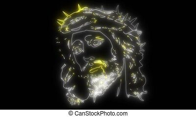 Face of Jesus video animation