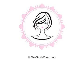 Face Of Pretty Woman Silhouette Logo