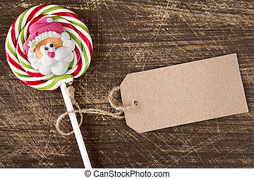 Face of Santa on Christmas lollipop