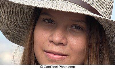 Face Of Teen Girl