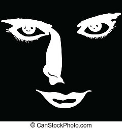 face of white vector illustration