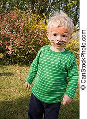 face paint tiger boy child