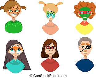 Face painting icons.